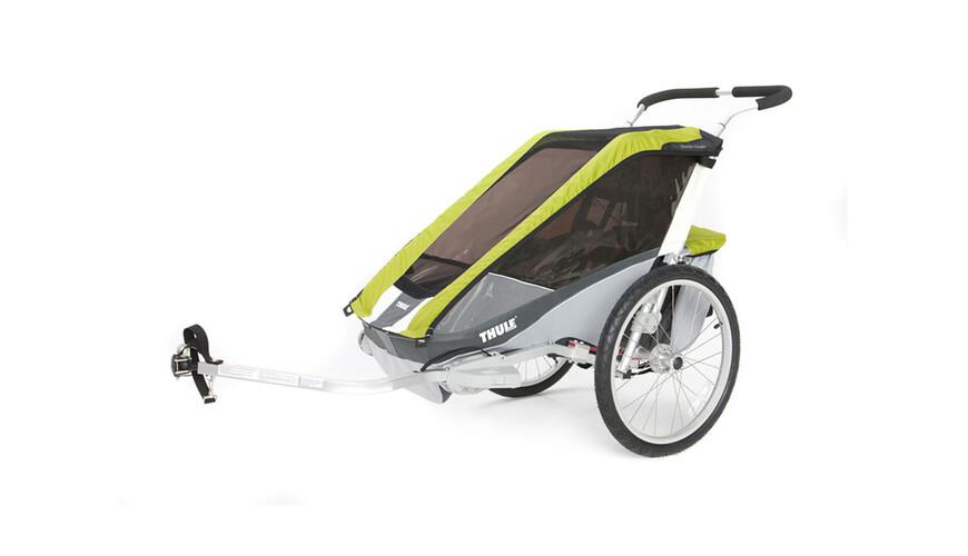 Thule Chariot Cougar 1 med cykelset grå/grön